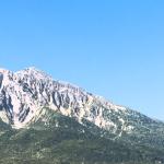 山が見える風景の待ち受け画像