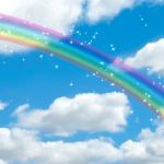 虹の風景が印象的な人気の待ち受け画像